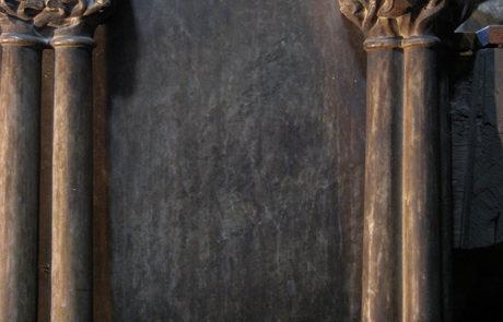 Dettaglio del pulpito prima del restauro