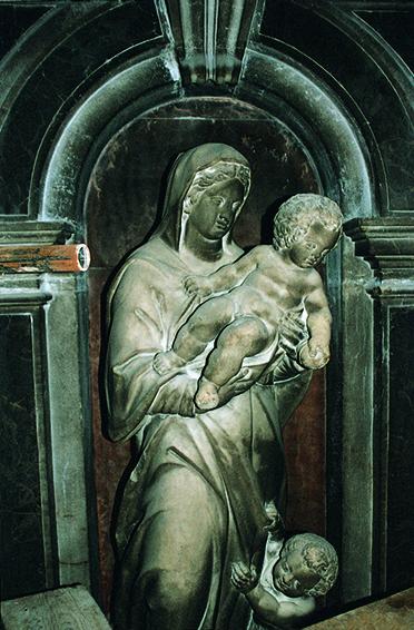 Personificazione della Virtù prima del restauro