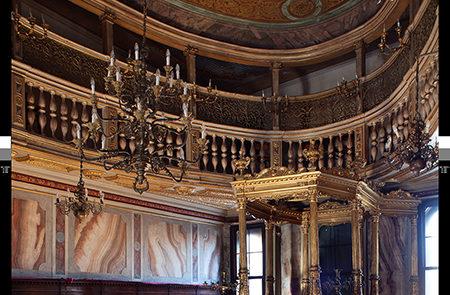 Interno della sinagoga Tedesca