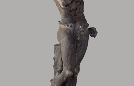 La statua di Adamo prima del restauro