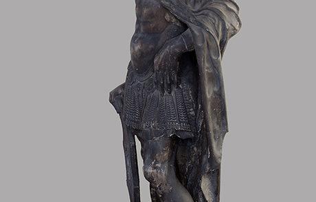 La statua di Marte prima del restauro