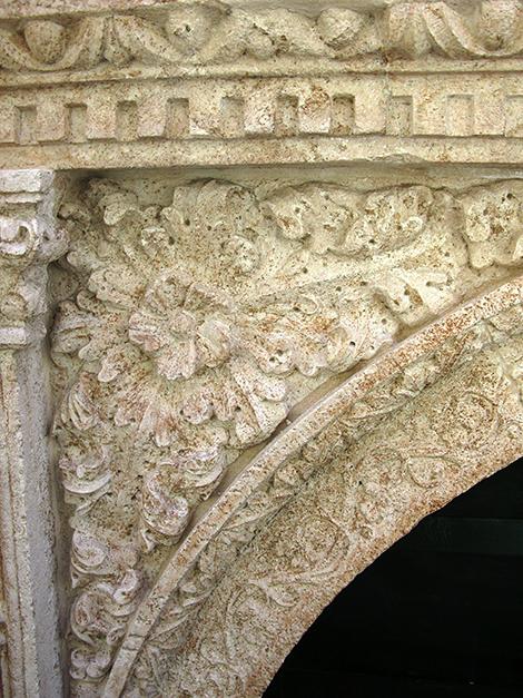Dettaglio del portale dopo restauro 2