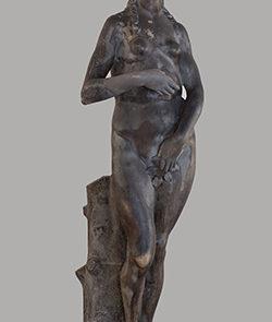 Statua di Eva prima di restauro