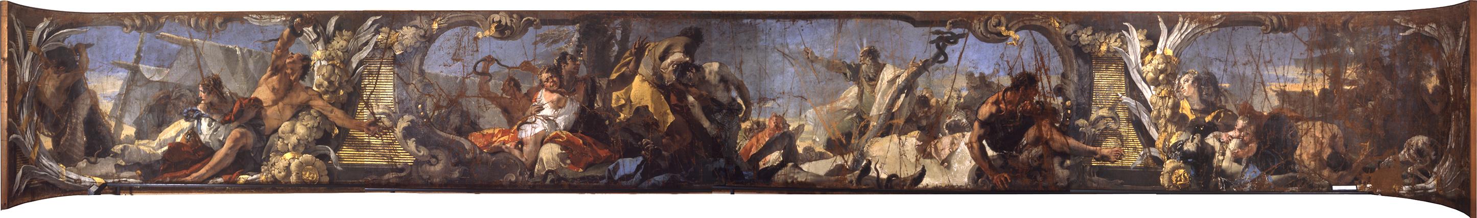 Tiepolo Giambattista - Castigo dei serpenti prima del restauro